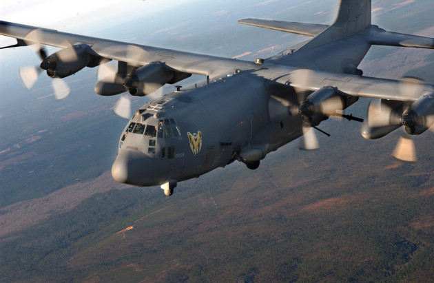 AC-130U Spooky Gunship of the 4th Special Opeartions Squadron Hurlburt Field Fl., flies over surrounding areas for local area training proficiency. (U.S. Air Force photo)
