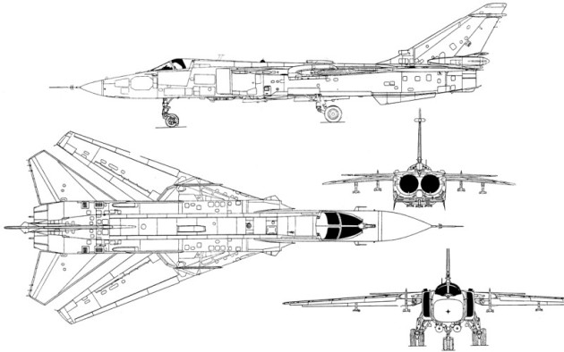 Sukhoi Su-24M Fencer (Photo Courtesy of Aerospaceweb.org)