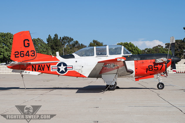 The workhorse of Naval Aviation, the Beechcraft T-34C Turbo-Mentor, replaced recently by the T-6 Texan II. (Photo by Jason Hyatt)