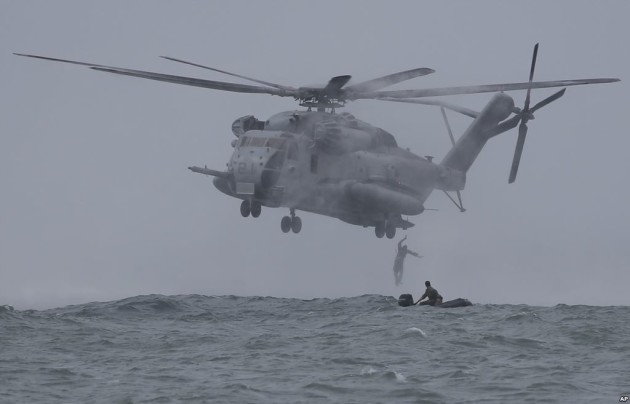 Two Marine CH-53E Super Stallions like this one collided off the coast of Hawaii. The search for twelve missing Marines has been called off. (DoD Photo)