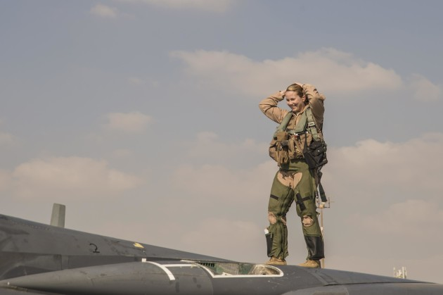 Major Jennifer, a Weapon Systems Officer (WSO) with the 391st Expeditionary Fighter Squadron, has now flown 1,000 hours in combat, a significant milestone. (U.S. Air Force Photo/Released)