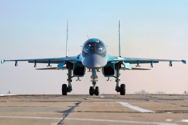 The Sukhoi Su-34 Fullback fighter-bomber. Photo courtesy of Wikimedia Commons.