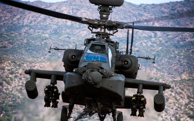 "The AH-64D Apache ""Longbow."" (Photo courtesy of Boeing)"
