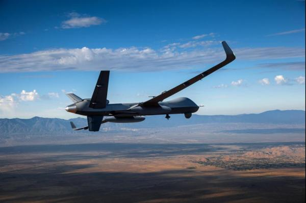 Predator B Extended Range during a recent test-flight. (Photo courtesy of General Atomics)