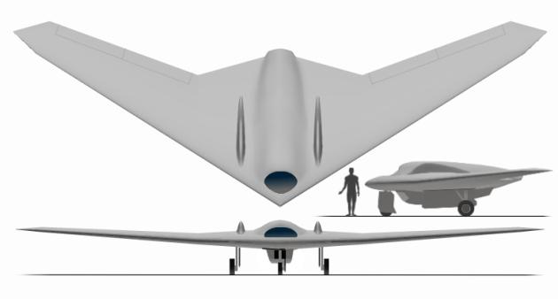 Lockheed-Martin RQ-170 Sentinel drone. (Graphic courtesy of YouTube)