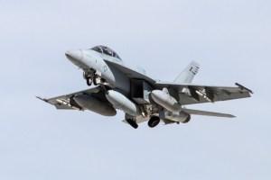 Super Hornet with IRST Pod Photo: Lockheed Martin