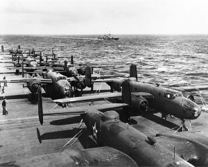 B-25's on the USS Hornet, Source: Wikipedia