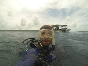 About to Dive. Photo credit: Derek Abbey