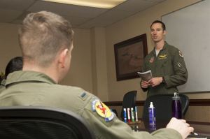 Wingman Debrief, Photo courtesy acc.mil