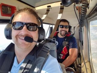 Joe and Josh Elliott Flying Over San Diego