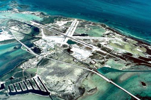 Vue aérienne de NAS Key West, avec l'aimable autorisation des archives de la Floride