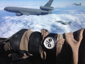 Bremont VMFA(AW)-225 miitary edition during refueling operations with F/A-18Ds and a KC-10 Tanker.