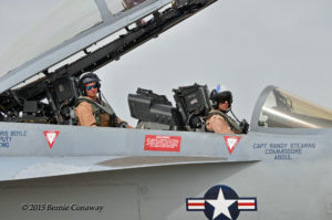 """Bueller staying one step ahead of his pilot LT Wallace """"Gump"""" Miller. Photo: Bernie Conaway"""