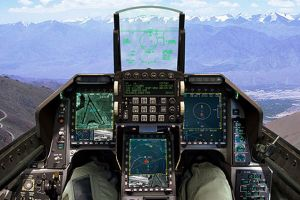 Simulated F-16V cockpit
