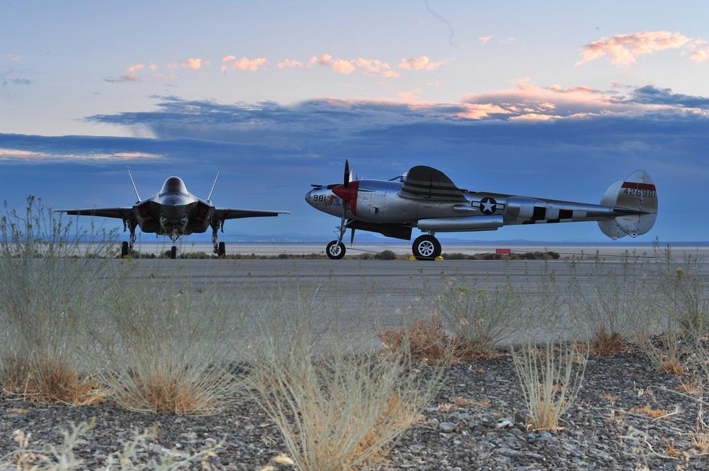 Both Lightning Fighters. Courtesy Lockheed Martin