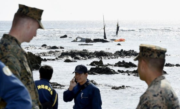 marine corps osprey crash in japanese waters