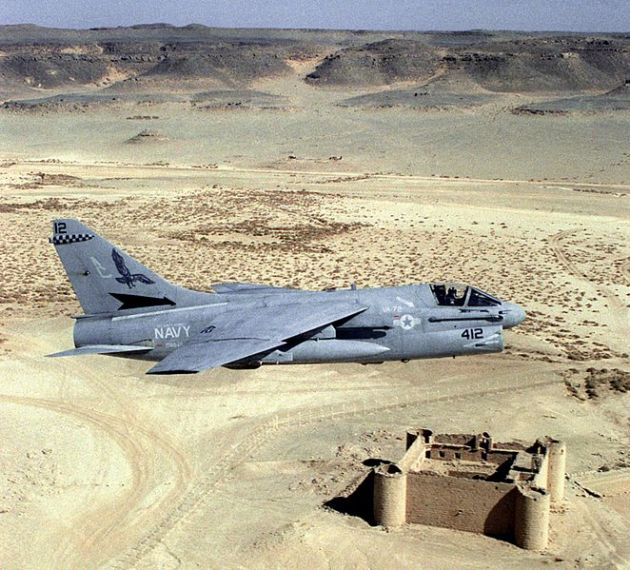 A-7E_VA-72_over_Saudi_Fort_1990