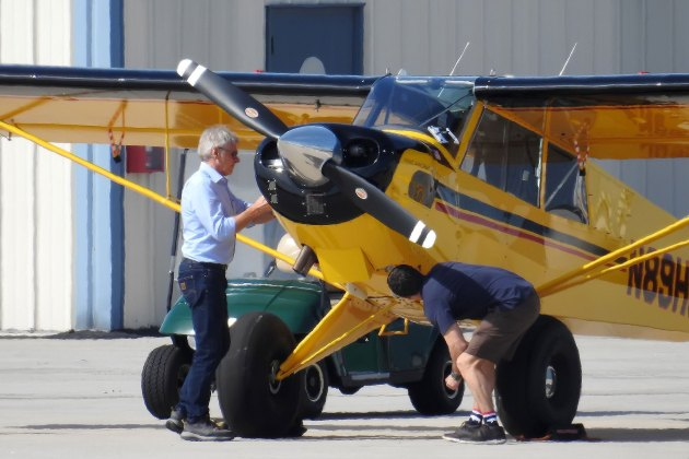 Exclusive... Harrison Ford Takes A Solo Flight In Santa Monica