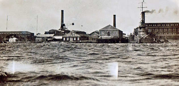 View of the shoreline at the Pensacola Navy Yard