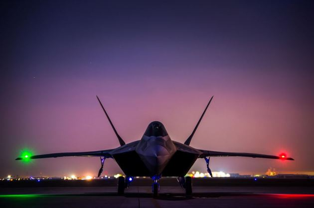 380th Air Expeditionary Wing F-22 Raptor