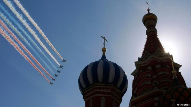 moscow victory day parade fly over