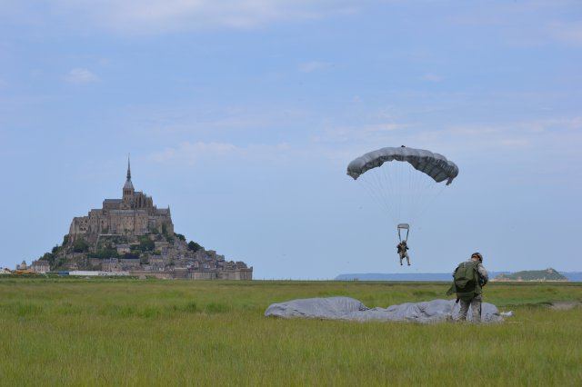 D-Day US Special Operation Forces conducted a military free fall near Mont Saint-Michel