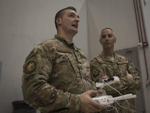 455th Expeditionary Security Forces Squadron drone training