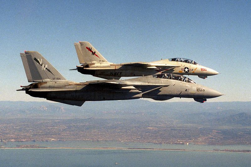 F-14As_VF-194_in_flight_near_NAS_Miramar_1988