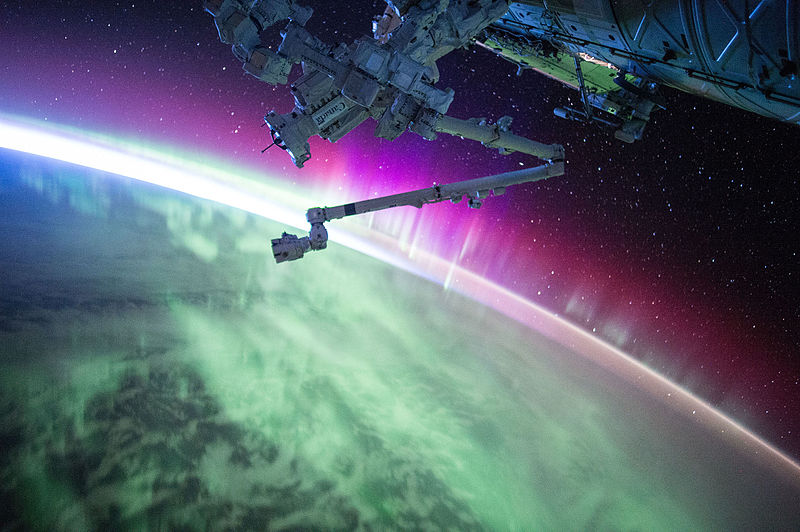 Astronaut Scott Kelly posted this photo of an aurora taken from the International Space Station