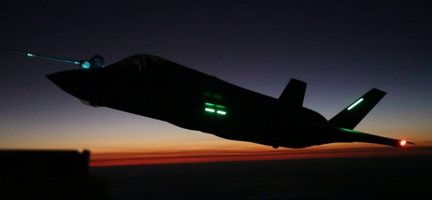 F-35B Lightning II aircraft with Marine Fighter Attack Squadron (VMFA) 121
