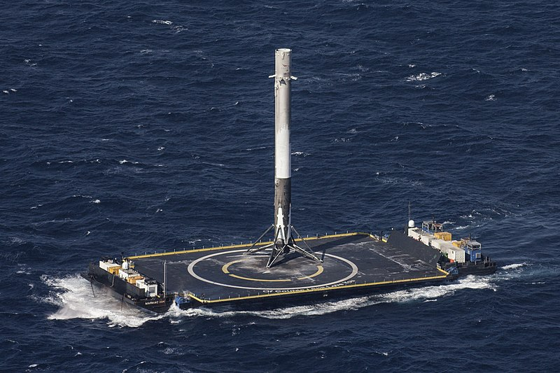 First stage of a Falcon 9 Full Thrust rocket on the autonomous spaceport drone ship (ASDS) Of Course I Still Love You.