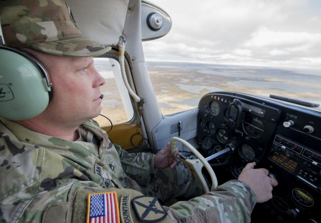 Sgt. 1st Class Robert Masterman, an Alaska National Guard recruiter