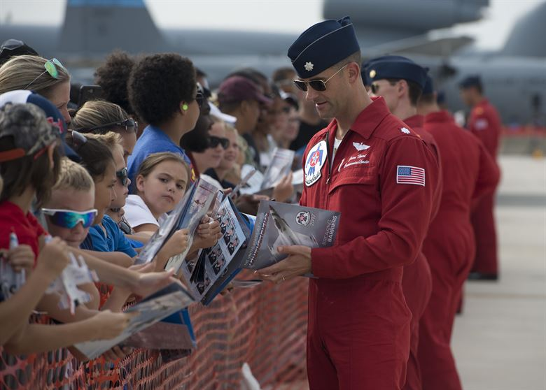 Lt. Col. Jason Heard, commander of the U.S. Air Force Thunderbirds Air Demonstration Squadron
