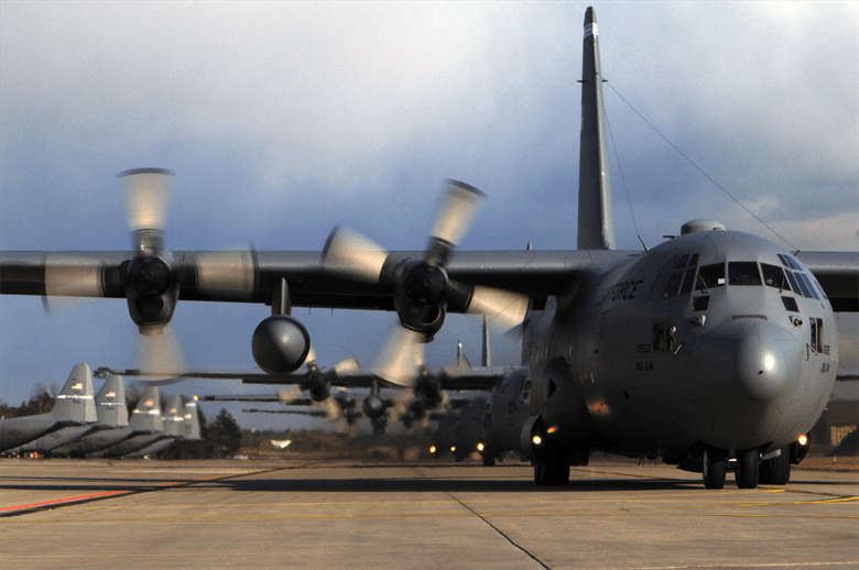 c-130 in action