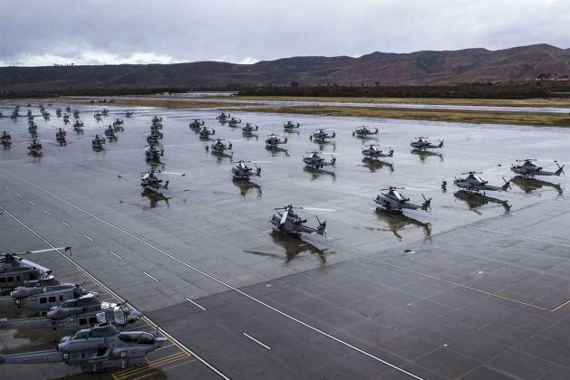 Rain in Sunny California - Flightline at Marine Corps Air Station Camp Pendleton