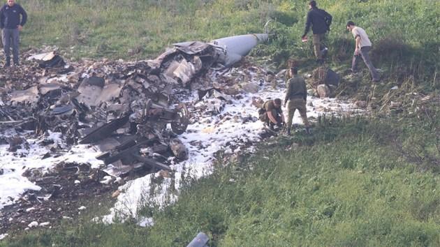 Israeli Defense Force f-16 shot down syria
