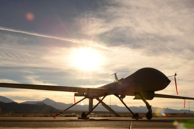 MQ-1 Predator Drone to Sunset in March 2018 | Fighter Sweep