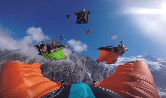 wingsuit flying skydiving video