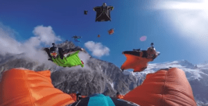 wingsuit flying skydiving video