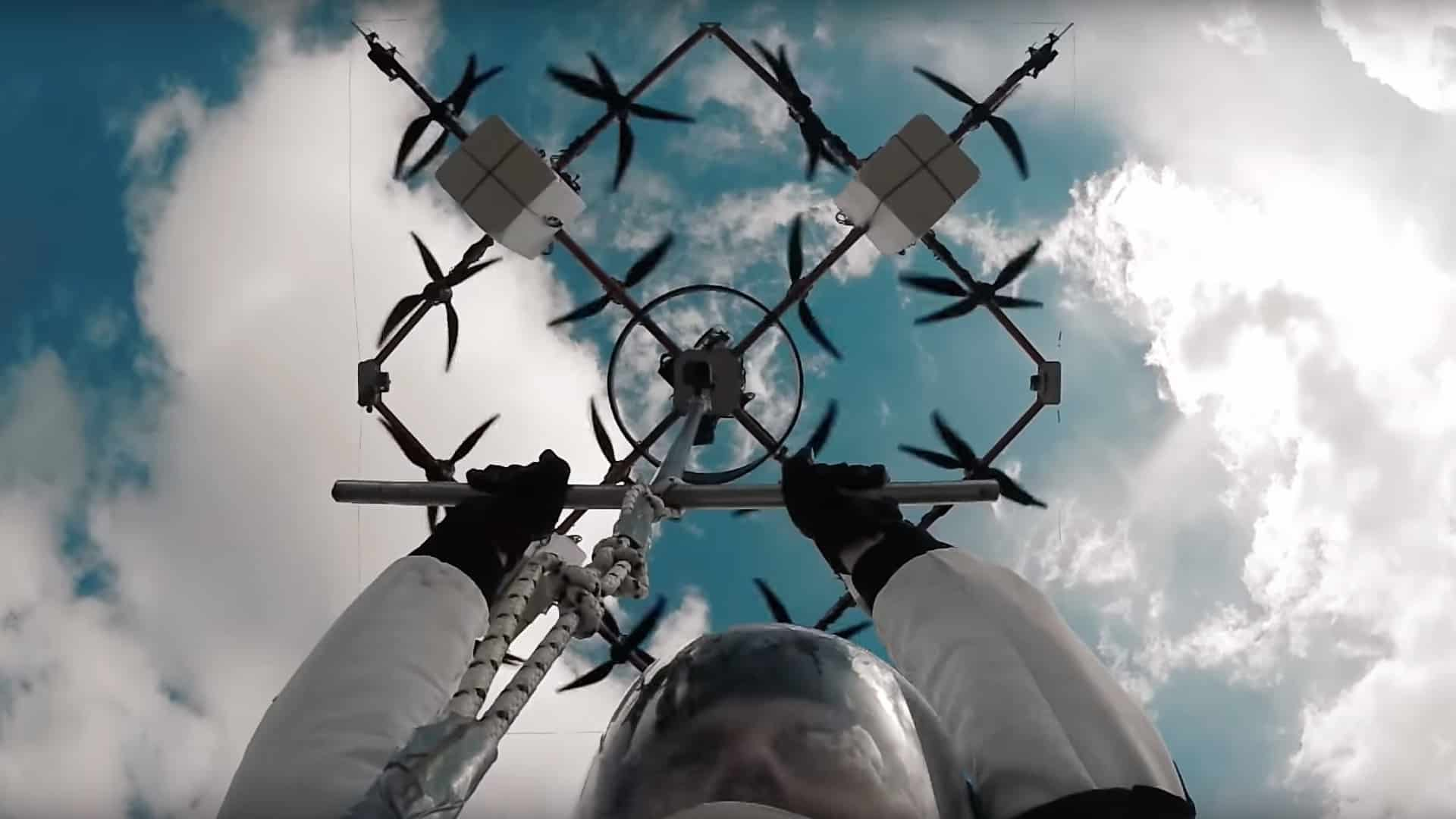 worlds first drone base jump