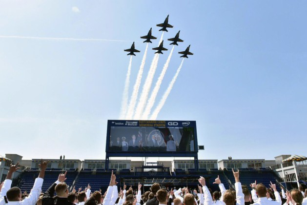 Navy Blue Angels Honor U.S. Naval Academy 2018 Graduates