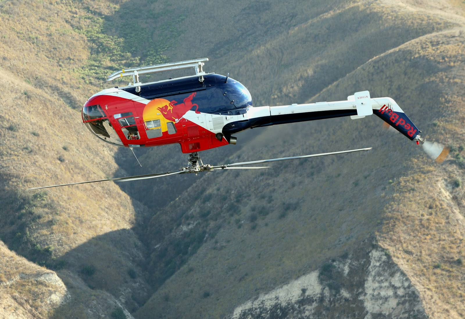 Chuck Aaron and the Red Bull Aerobatic Helicopter