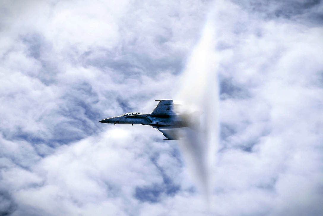 Navy F/A-18F Super Hornet Breaking Sound Barrier
