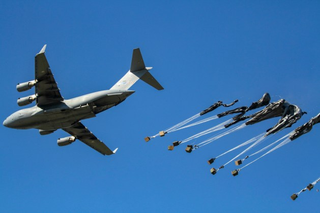 C-17 Drops Equipment for the 173rd Airborne Brigade Combat Team