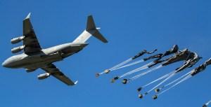 C-17 Drops Equipment for the 173rd Airborne Brigade Combat Team