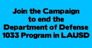 End the 1033 Program Sign on Letter