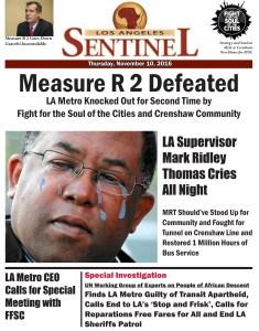 LA Sentinel Measure R 2 Defeated