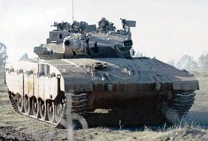 Merkava Mk 3 Tank pre-upgraded 1990 onwards