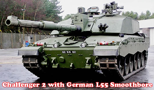 Challenger 2 Tank with L55 smoothbore