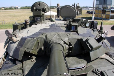 Russian T-80U Tank close up of the turret roof